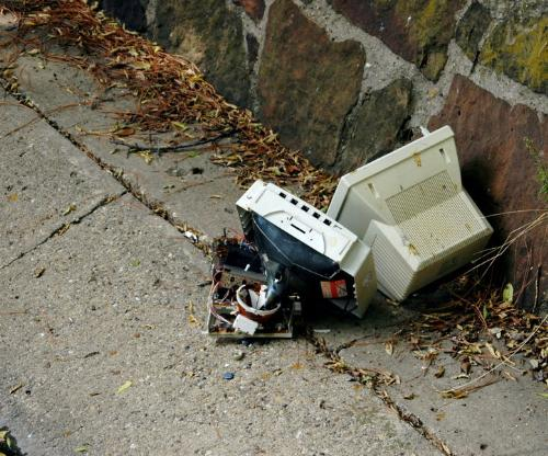 E-Waste - Nowadays there's a lot of e-waste accumulating everywhere