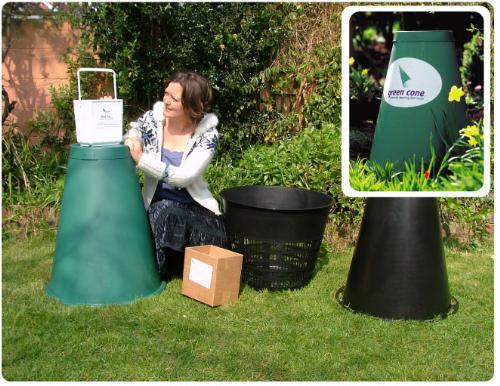 Green Cone Food Waste Digester - A great aid to the environment... the Green ConeFood Waste Digester, will fit into a corner of your garden.