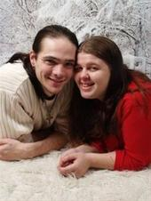 me and my husband - matt and i at christmas time. the love of my life.