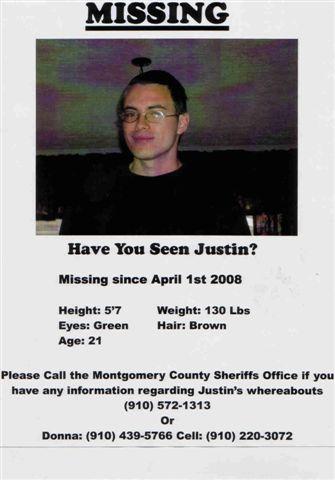 my friends friends grandson - justin's flyer....please help find him.
