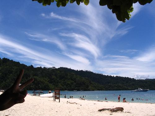 Sapi Island, Sabah, East Malaysia - this is the picture i took when i was in Sapi Islan, EAst Malaysia. i really had a great time there, nice scenery adn crystal clear water