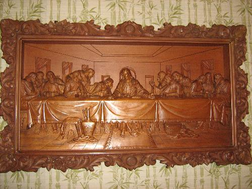 ❤️️last supper lord`s supper✅wood carved d art icon orthodox