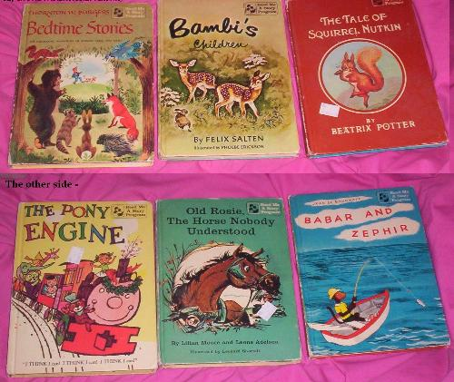 1960's Children's Flip Books - Do you remember these books? It's books that when you flip them over there are three different stories for a total of six stories within just three books. I loved books like this when I was growing up [and sort of still do!]. I think these were published in the 1960's maybe.