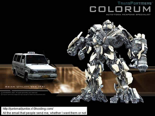 a photo done by digitalpotato - a colorum fx transformed into colorum the transformer