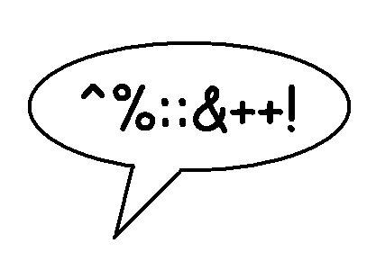 swearing - swearing, comic book style