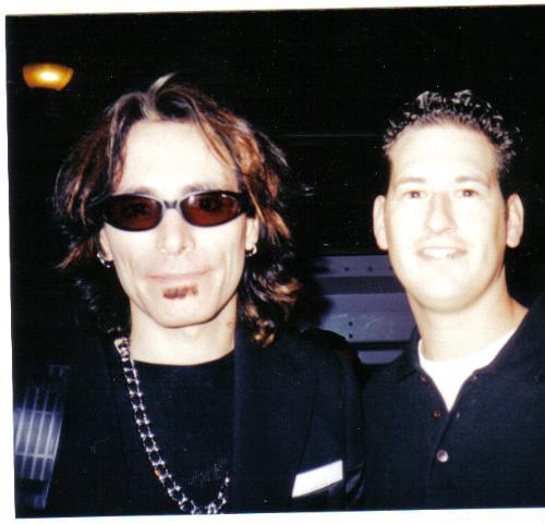 Steve Vai - Steve Vai and me after a concert.
