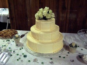 The most deadly food - Lovely wedding cake.