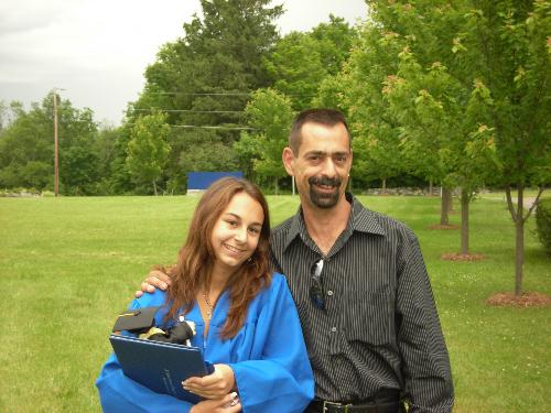 daddy - this is a picture of me and my biological father at my high school graduation.