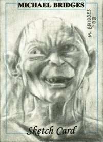 Gollum from Lord Of The Rings - This a sketch card I did of Gollum from Lord Of The Rings.