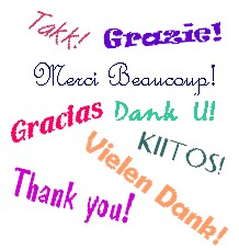 thanks - thank you in different languages