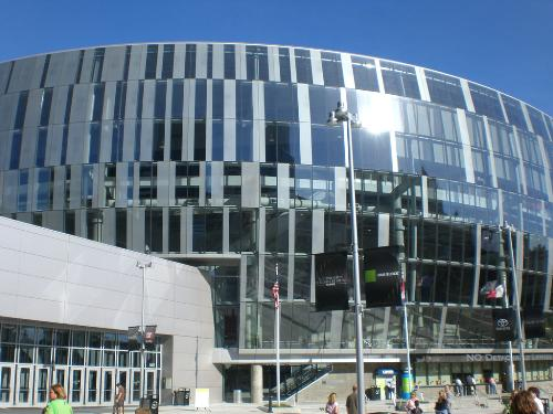 The Sprint Arena down town Kansas City - This is a photo of the Sprint Arena down town Kansas City, we're taking the family to see Walking with the Dinosaurs. This was my second time visiting the Sprint Arena and always enjoyed myself.