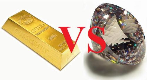 Gold VS Diamond - Gold VS Daimond, which do you think worth more?