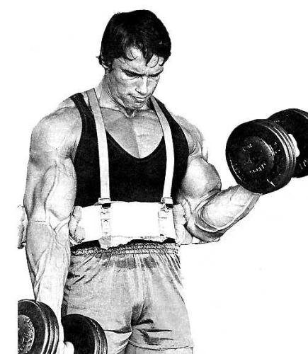 arnold schwarznegger - arnie is workin out for biceps