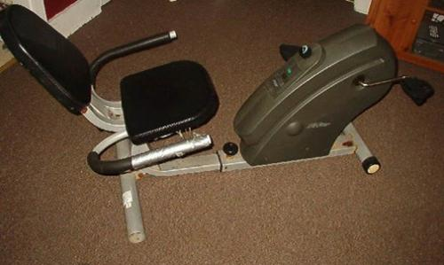 My Free Recumbent Exercise Bike -  I got this recumbent bicycle free from a woman on freecycle. Works for me!