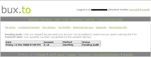 Bux.to payment - Still waitnig for my payment