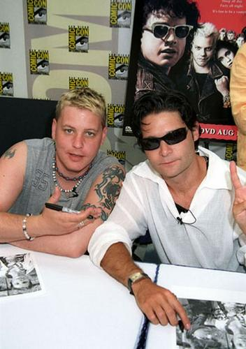 The Two Coreys - A picture of the two Coreys signing autographs...