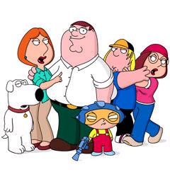 Family Guy - Peter, Lois, Stewy, Brian, Chris, and Meg.