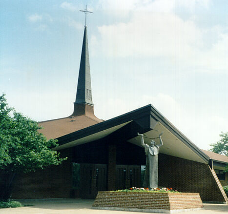 Picture of a church - this is a picture taken from outside of a catholic church