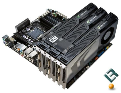 GTX 280 Tri Way SLI. - It is GTX 280. It supports Tri-Way SLI, it is a monster and when it is used in the SLI Format, it runs like a beast. everygame has to surrender to it. and I mean every game. It uses the latest PCI Express x16(2.0) interface slot.