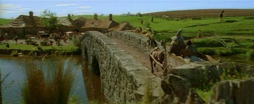 Scene from Lord Of The Rings - Image of The Shire from Lord of the Rings