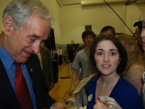 At the campaign trail - I met presidential candidate Ron Paul while he was rallying in Pennsylvania.