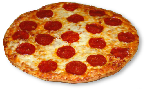 the pizza owns u all - pepperoni pizza