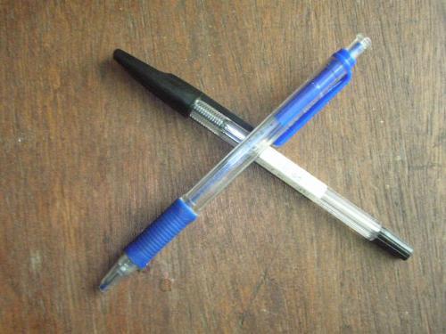 ballpen - black vs. blue? what's your choice of pen?