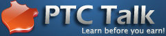 This is the logo of PTC talk - logo of PTC TALK 