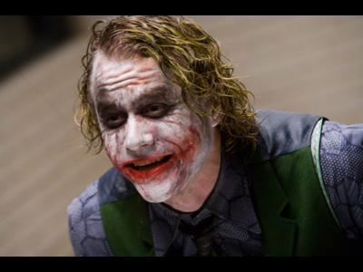 Heath as the Joker - The Joker is a very dark character