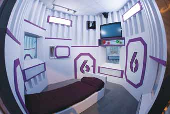 Solitary Voluntary Confinement - this is the pod that the contestants stay in.