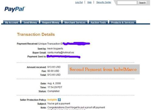 Second Payment from IsabelMarco - IsabelMarco is one of the best PTC out there, and I've just received my second payment.