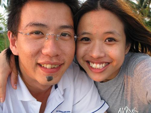 My Boyfriend & I - This is the beach over at my boyfriend's hometown. I went over to Kuala Kurau in Malaysia and we spent the evening there just to watch the sun set =) It was one of my unforgettable times with him.