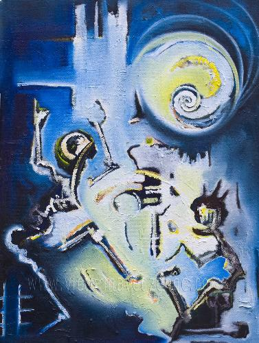 Last Dance - Painting by Victor Mavedzenge, Zimbabwean Artist with a vast array of paintings at his site. Google his name for more results. His website is http://www.victormavedzenge.com