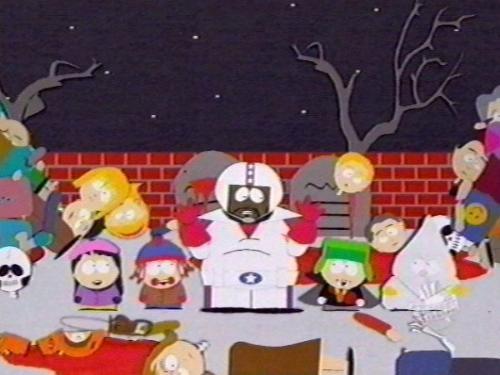 South Park- pink eye zombies - South Park cartoon: pink eye zombie epidemic