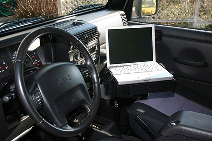 Cars With A Laptop - Laptop in the Car as described above.