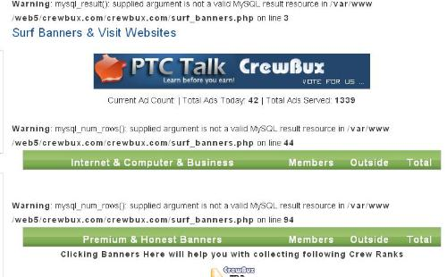 crewbux - screen shot taken from ads section in crewbux