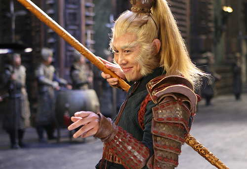 Monkey King - This is a picture of the monkey king which is the main character of this movie. I think that they did a good job protraying this character in this movie. He is funny and nice but still the most powerful.