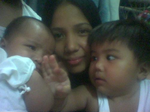 Me and My kids... - Cellphone camera shot with my two young boys...