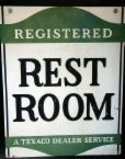 rest room - rest room sign board