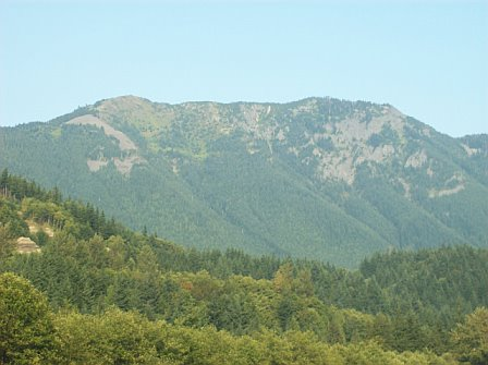 Mountain side in the cascades - This is a picture I took while travelling in the Cascade Mountain range.