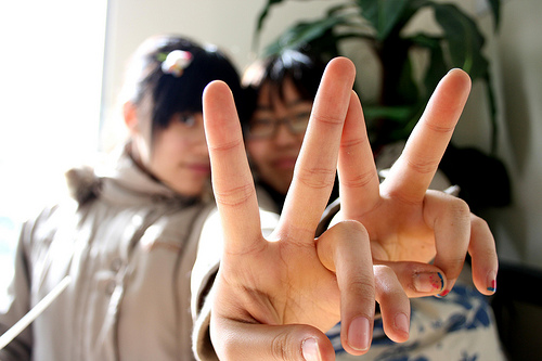 V for Victory - the victory sign