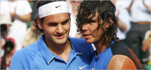 Tennis - Roger Federer and Rafael Nadal