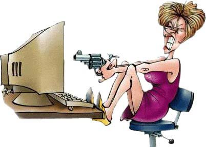 angry woman at work! - I find this picture pretty funny, as it resemlbles the lady I work with.