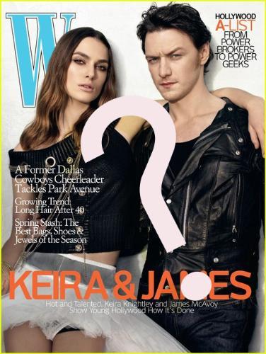 w magazine with james and kiera - w magazine
