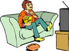 watching tv - a family is wathing tv