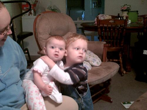 My Children - My son just loves giving his little sister hugs! I'm enjoying this now cause i know it wont last forever lol!