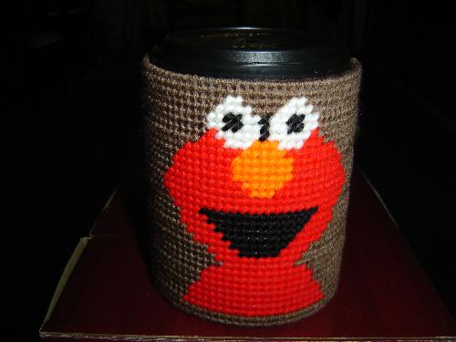 Elmo Bank - Elmo bank made with plastic canvas and yarn.
