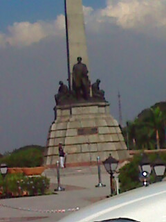 The Rizal Park - I really find the guard weird. well I am really curious.