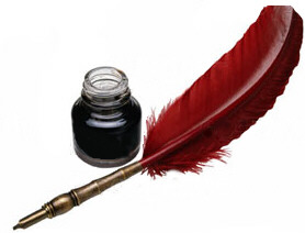 Writing quill - A writing quill