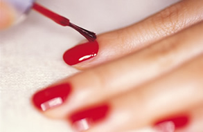 red nails! - red nails are very popular...